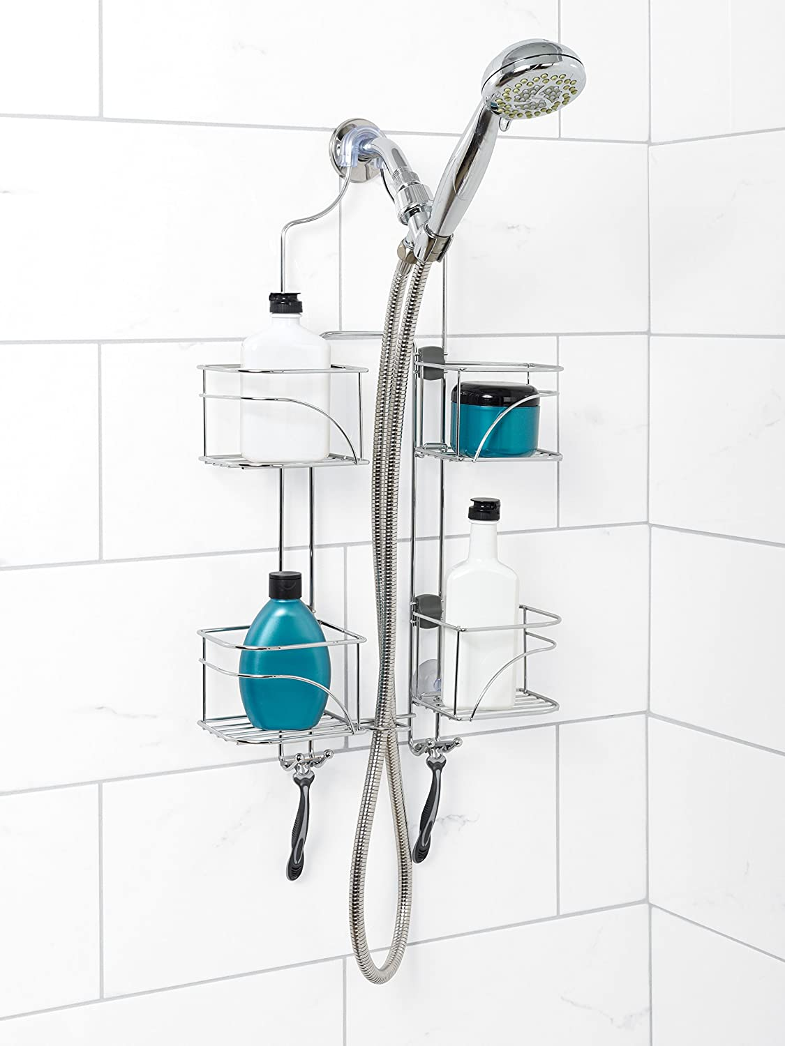 Amazon.com: Zenna Home 7446SS, Expandable Over-the-Showerhead Caddy ...