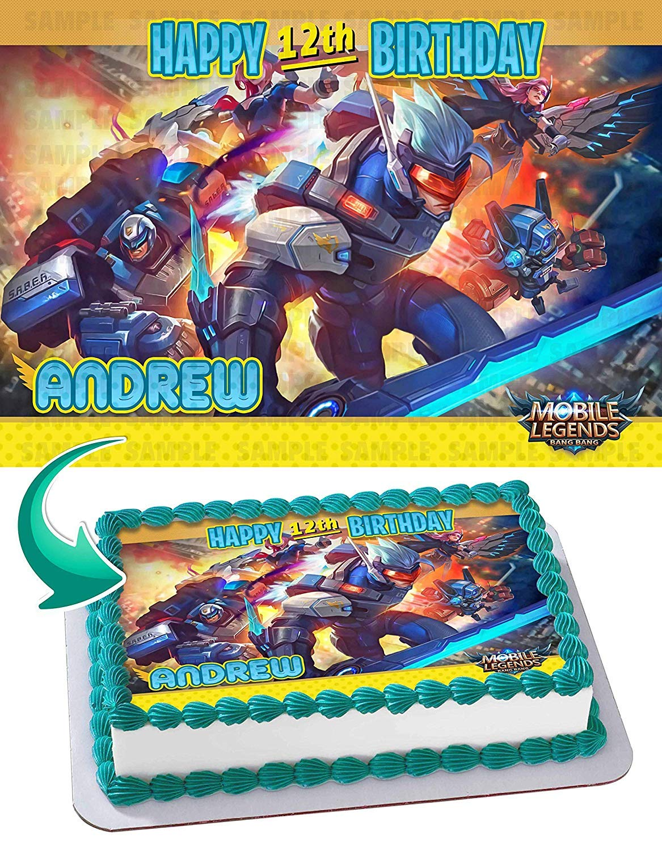 Mobile Legends Bang Bang Edible Cake Image Topper ...