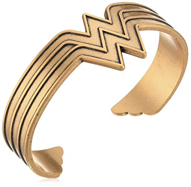 Amazoncom Alex and Ani Wonder Woman Rafaelian Gold Cuff Bracelet