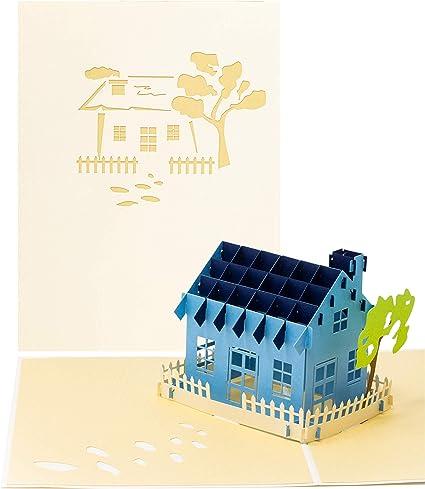 LIMAH® Pop Up Hauskarte, Glückwunschkarte, Freundschaftskarte ...