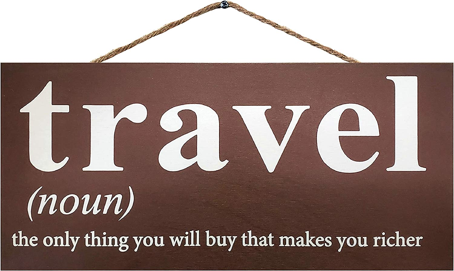 JennyGems Travel Wood Sign   Travel The Only Thing You Will Buy That Makes You Richer   Travel Decor Wall Hanging   Travel Themed Home Accent   Travel Room   Travel Decoration