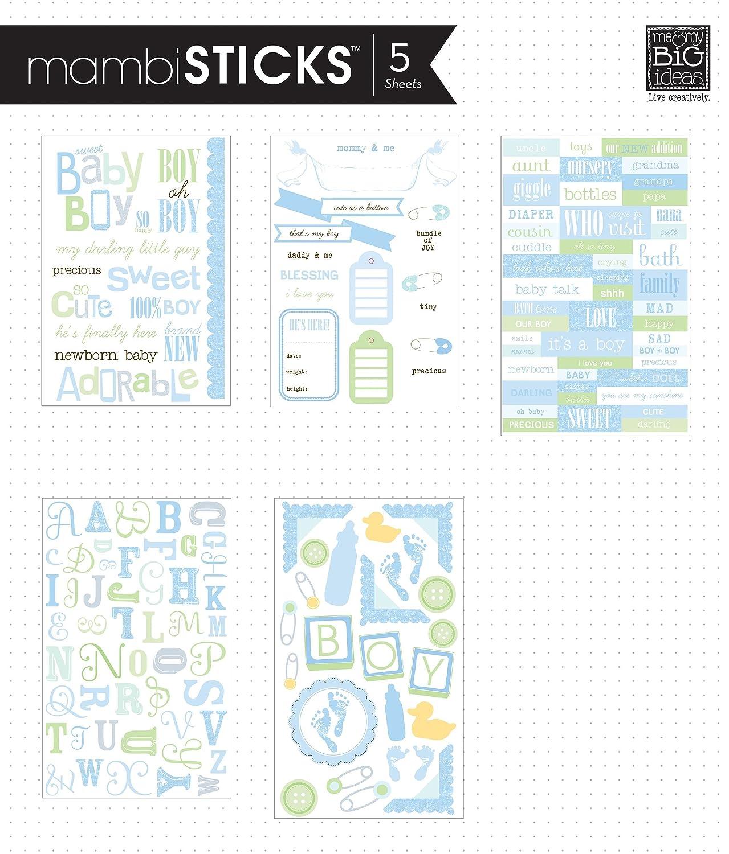 Sweet Baby Boy me /& my BIG ideas Glitter Sticker Flip Value Pack