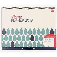 Boxclever Press Home Planer Wandkalender 2019. Monatsplaner Kalender mit viel Platz für tägliche Termine & Aktivitäten. Großer Monatskalender 2019. Ab sofort nutzbar mit Laufzeit bis Dezember 2019
