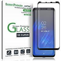 Verre Trempé Galaxy S8 Plus, amFilm Couverture Complète (Courbes 3D) Protecteur D'écran pour Samsung Galaxy S8 Plus (1 Pièce, Noir)