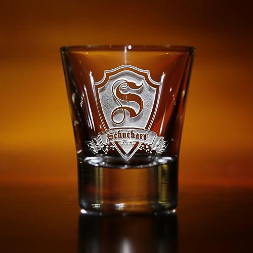 amazon com monogrammed shot glasses gifts for men set of 2 handmade