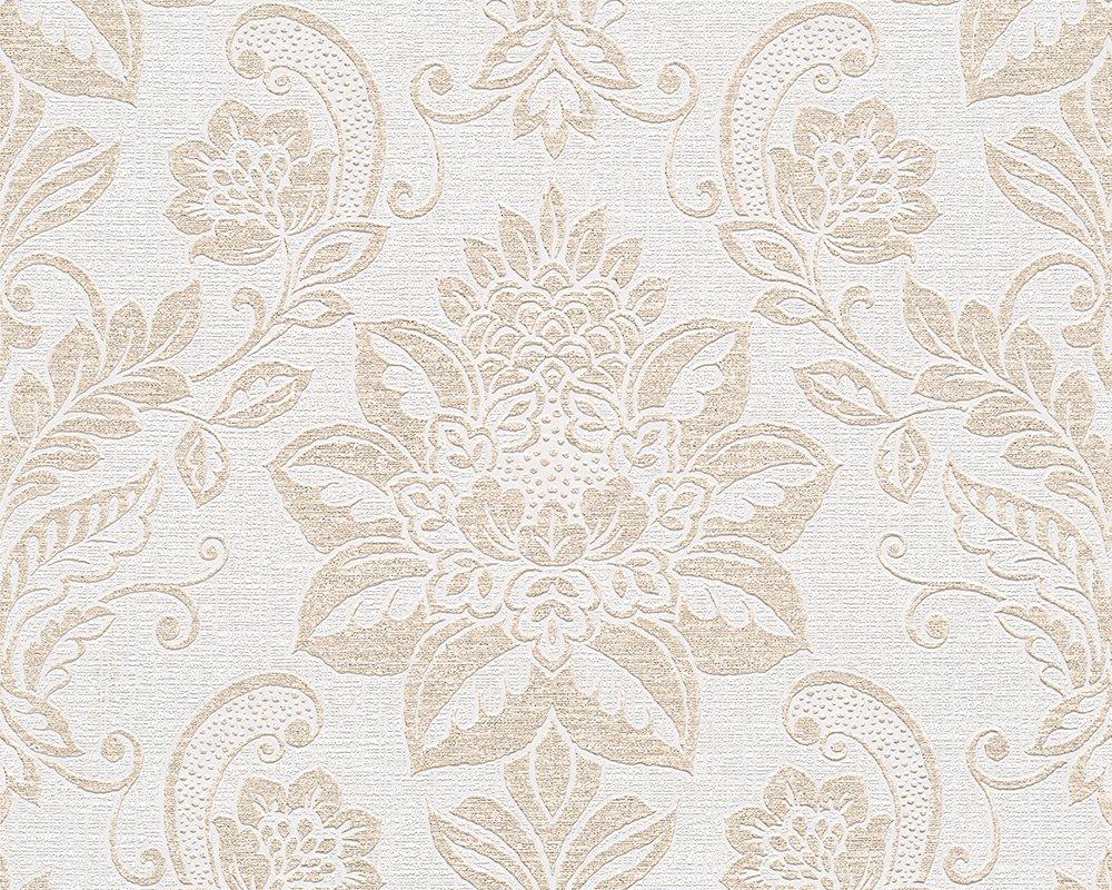 Vliestapete muster beige  A.S. Création Vliestapete Shabby Style Tapete in Vintage Optik ...