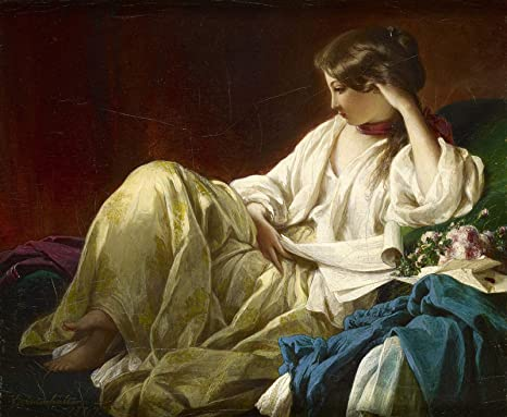 Amazon Com Franz Xavier Winterhalter Contemplation 1847 Painting Oil On Canvas 30 X 25 Fine Art Giclee Canvas Print Unframed Reproduction Posters Prints