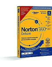 Norton 360 Deluxe 2020 - Antivirus software para 5 Dispositivos y 15 meses de suscripción con renovación automática - Secure VPN y Gestor de contraseñas  - PC, Mac tablet y smartphone