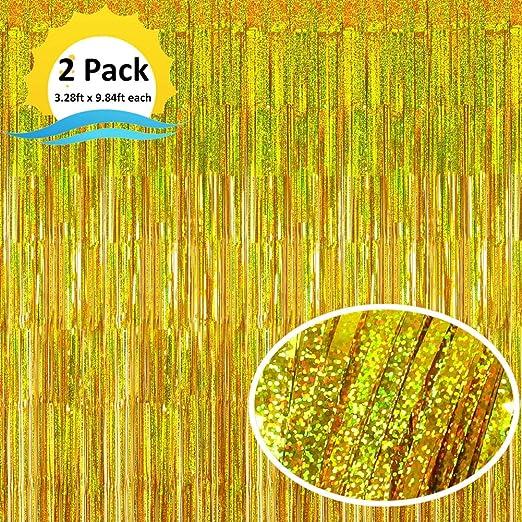 Amazon.com: Moohome - Paquete de 8 cortinas metálicas con ...
