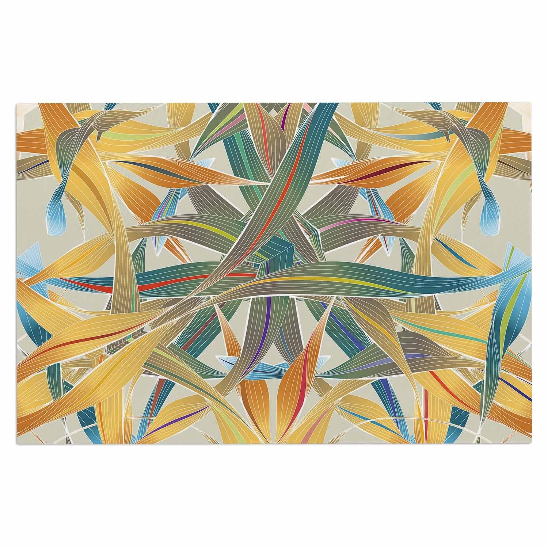 Kess InHouse Angelo Cerantola Supreme Multicolor Orange Decorative Door, 2' x 3' Floor Mat