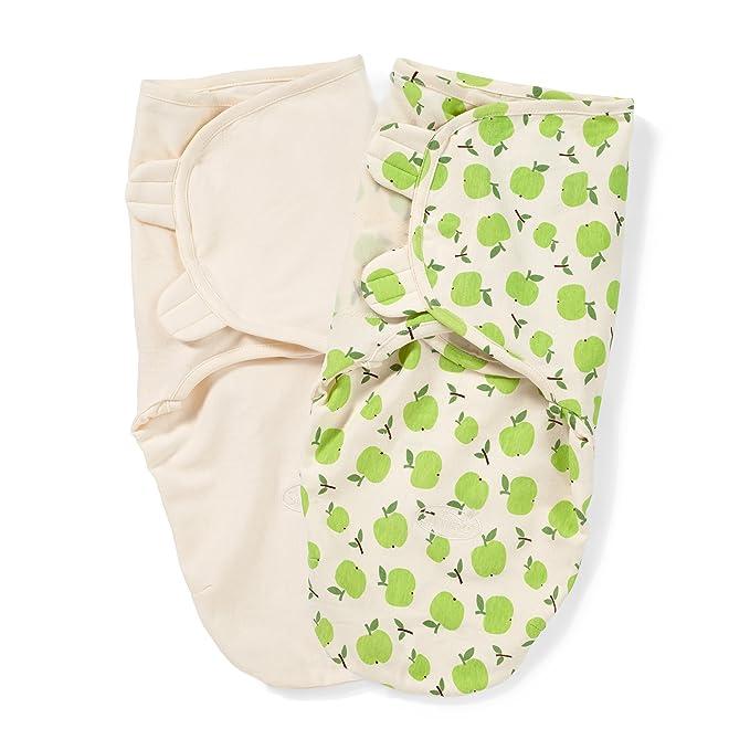 Summer Infant Small - Medium SwaddleMe Organic Cotton (Apple/Ivory) Swaddlers at amazon
