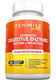 Digestive Enzymes Plus Prebiotics & Probiotics - Natural Gluten Free Support - For Better Digestion & Lactose Absorption - For Bloating & Gas Relief + Helps IBS & Leaky Gut, 180 Vegetarian Capusles