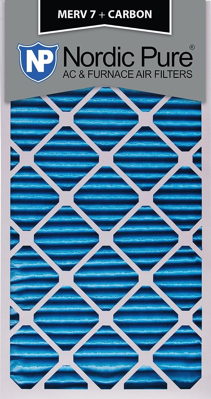 Qty 6 Nordic Pure 20x30x1 MERV 7 Plus Carbon AC Furnace Air Filters