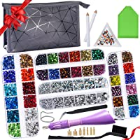 Hotfix Rhinestones Applicator with 4 Boxes Hotfix Applicator Rhinestones- 16ss Bedazzled Hotfix Rhinestones in total 8…