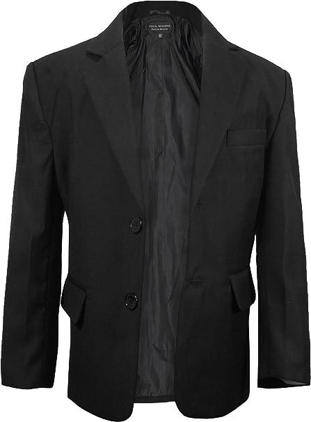 Paul Malone Jungen Anzugjacke Sakko Blazer schwarz Kinder Anzug Jacke für Jungs