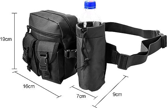 HoYiXi Tragbar Taktisch Hüfttasche mit Trinkflasche Behälter