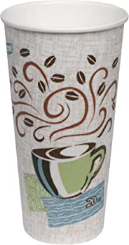 Dixie PerfecTouch 20 oz. Insulated Paper Hot Coffee Cup by GP PRO (Georgia-Pacific), Coffee Haze,  5320CD, 500 Count (25 Cups