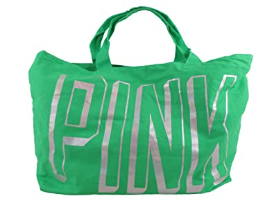 Amazon.com: Victoria's Secret Love Pink Green Hologram Large Tote ...