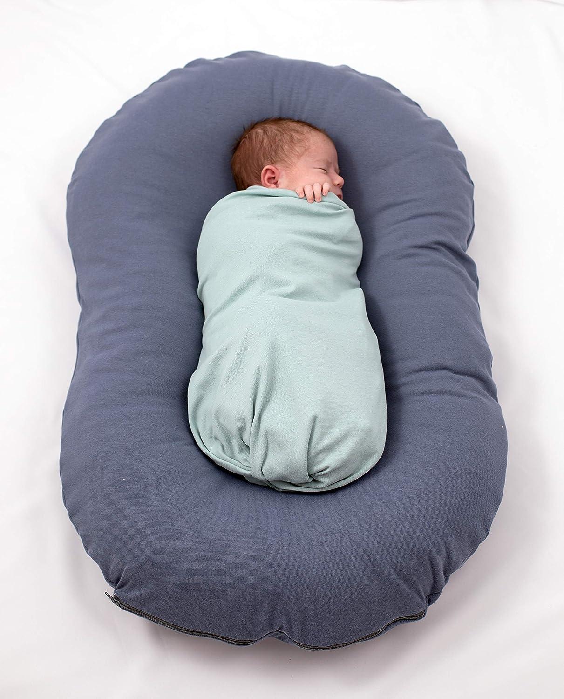 Lila Babynest kleiner Tr/äumling Lagerungskissen Baby Pod Kokon Babybett Puckhilfe