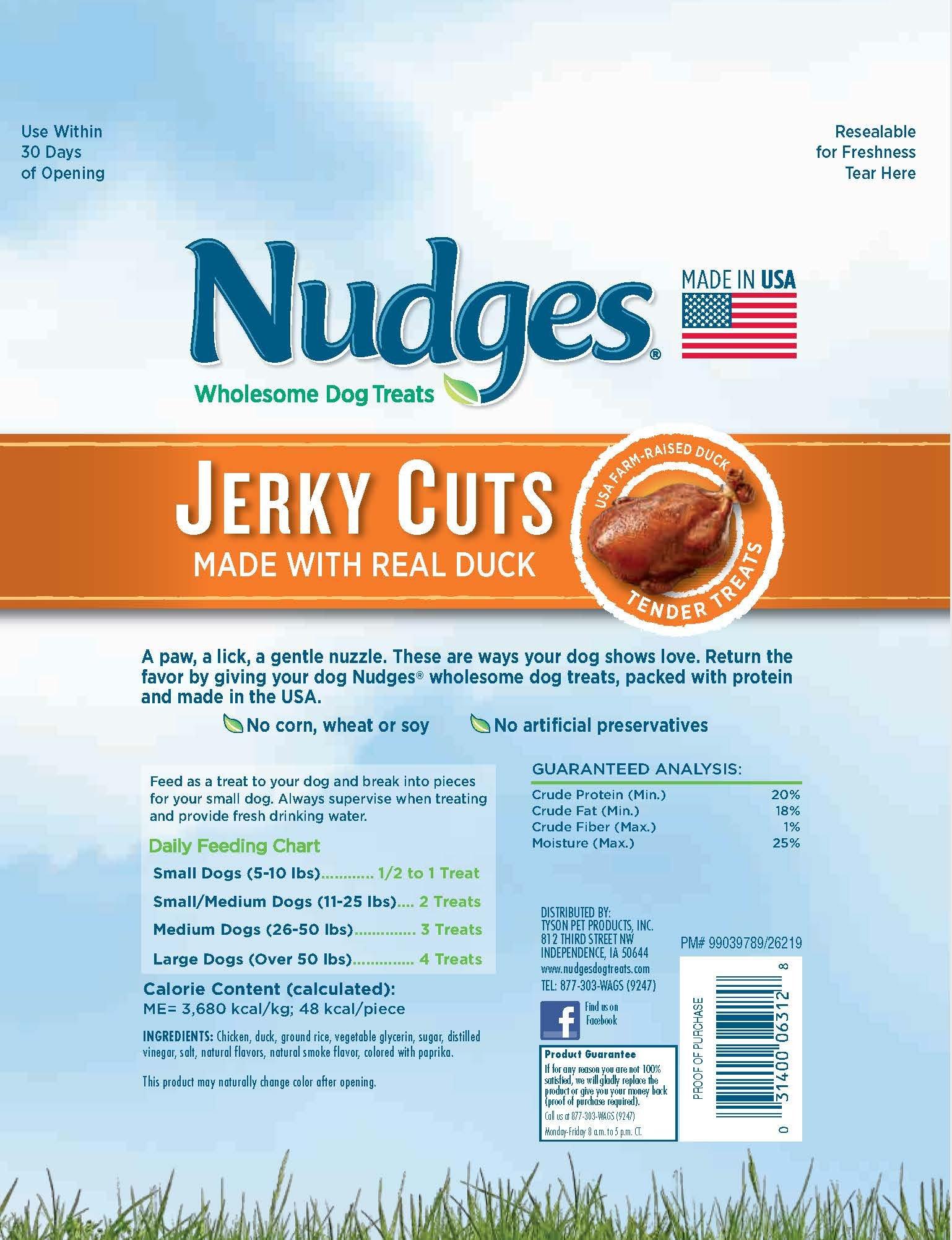 Nudges Jerky Cuts Dog Treats, Steak, 18 Ounce by Nudges (Image #1)
