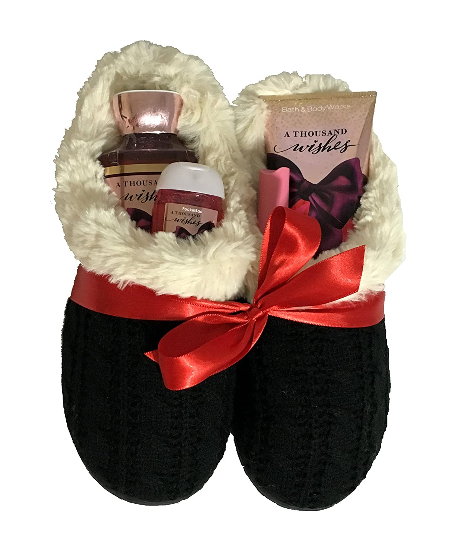 Amazon.com : Bath & Body Works Slipper Gift Sets - Gift Baskets ...
