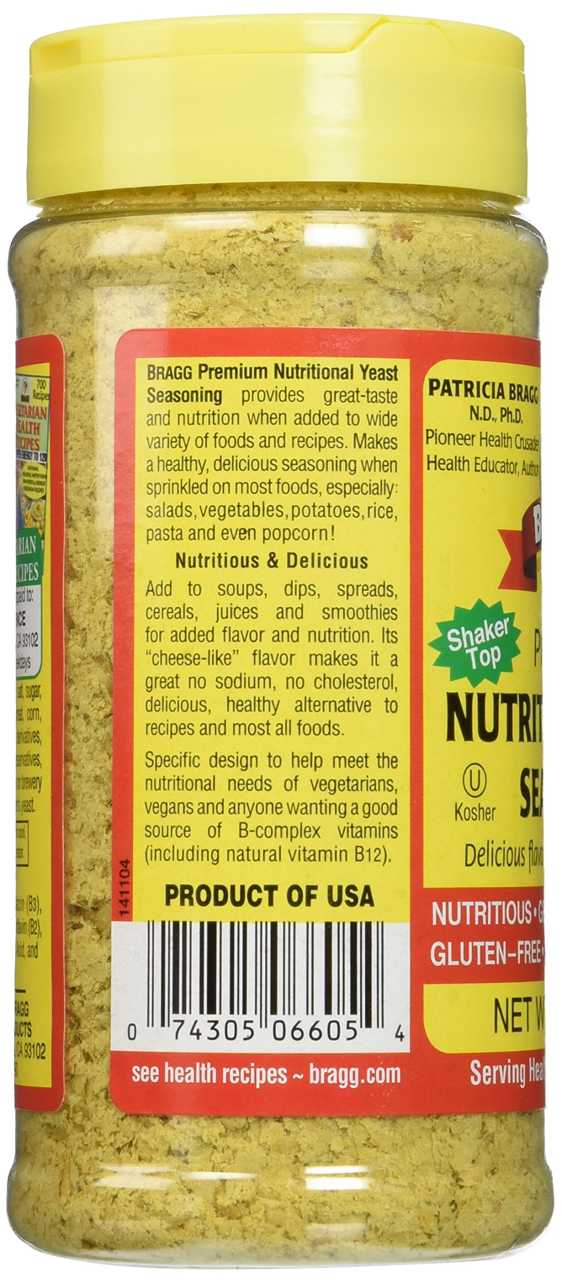 Bragg Nutritional Yeast Seasoning, Premium, 4.5 Ounce (2 Count) by Bragg (Image #6)