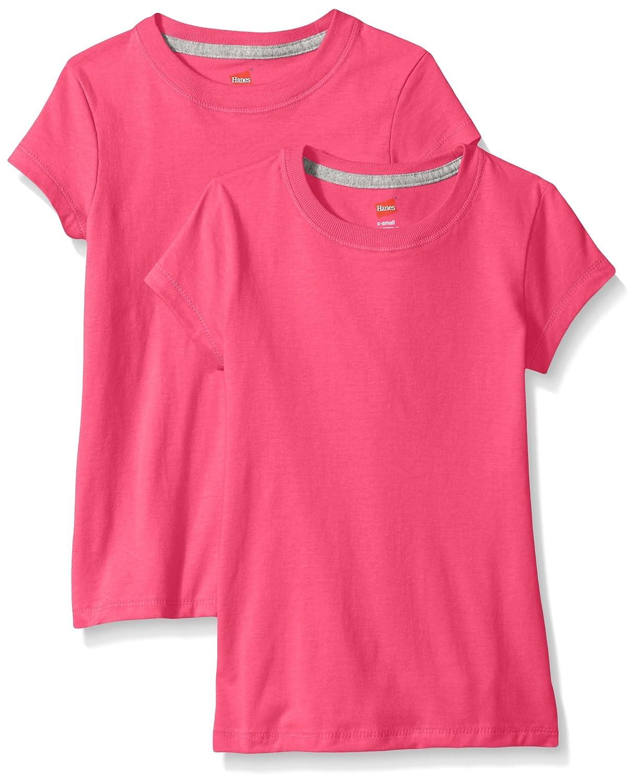 Hanes girls Little Girls Jersey Cotton Tee (pack Of 2) Hanes Women' s Activewear OK010-2