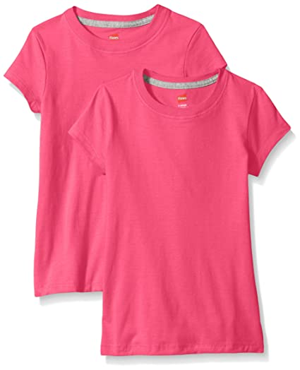 46567d4f6 Amazon.com: Hanes Little Girls' Jersey Cotton Tee (Pack of 2): Clothing