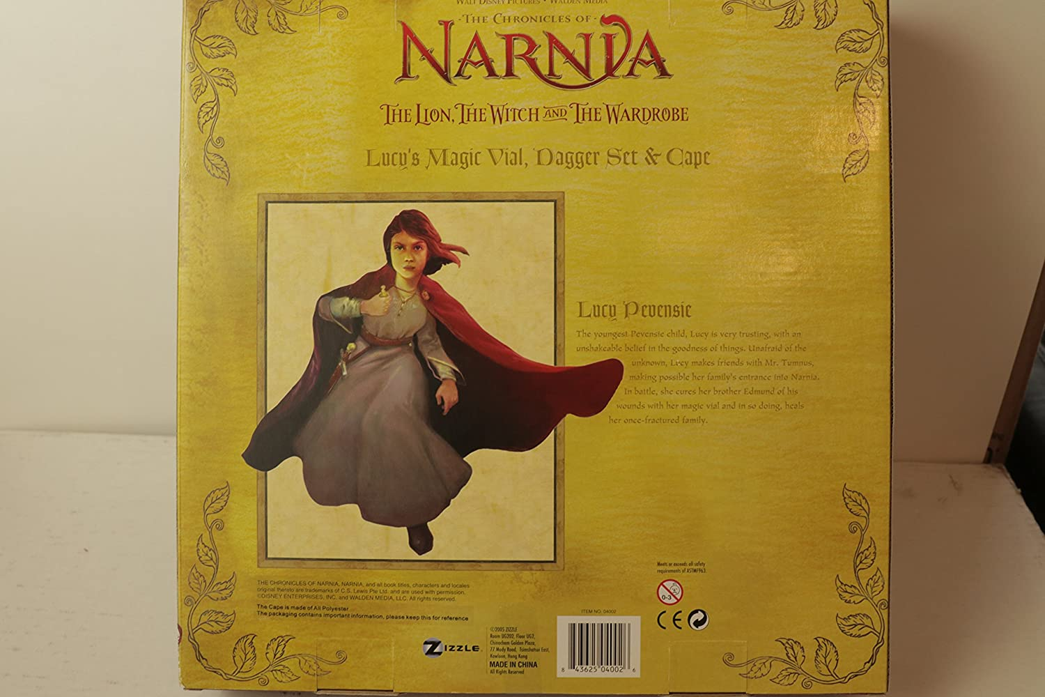 dae3d716e Amazon.com: The Chronicles of Narnia Lucy's Cape, Dagger and Vial: Toys &  Games
