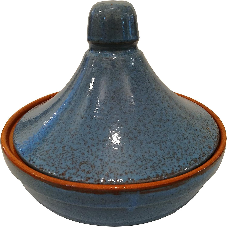 Coli maioliche y TERRECOTTE desde 1650Tajín, Capacidad de 1.5litros, diámetro 25cm, azul envejecido