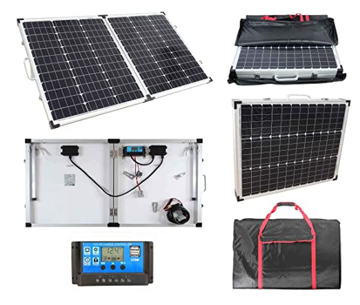 100 W 12 V lowenergie plegable Kit de carga solar para un ...