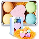 Bath Bombs Gift Set, All Natural Essential Oil Lush Spa Fizzies for Dry Skin, Best Birthday Gifts for Her, Women,Girlfriends, Teen Girls, Add to Bath Bubbles, Basket, Bath Beads, Bath Pearls