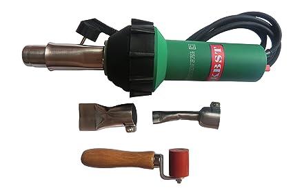1600W Hot Air Torch Plastic Welding Gun Welder Pistol 2pcs Speed Nozzle Roller