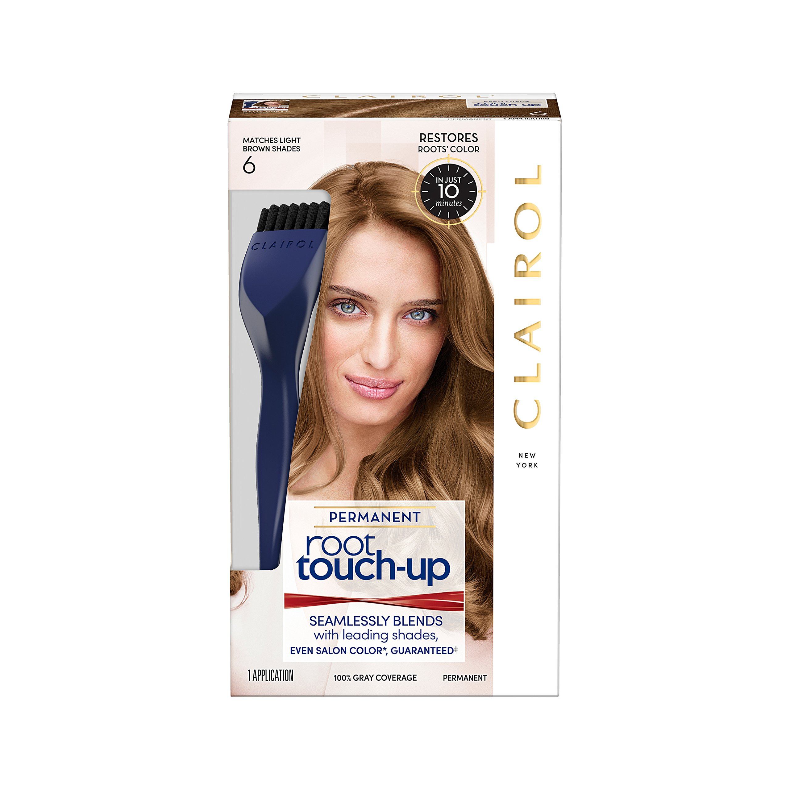Nice 'n Easy Root Touch-Up, Light Brown 1 ea (Pack of 2) by Clairol