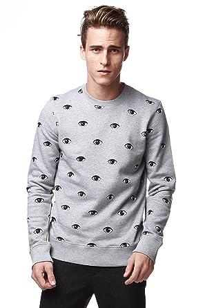 ce6047b3a Kenzo Men's Multiple Eye Sweater Medium Grey (Medium): Amazon.co.uk ...