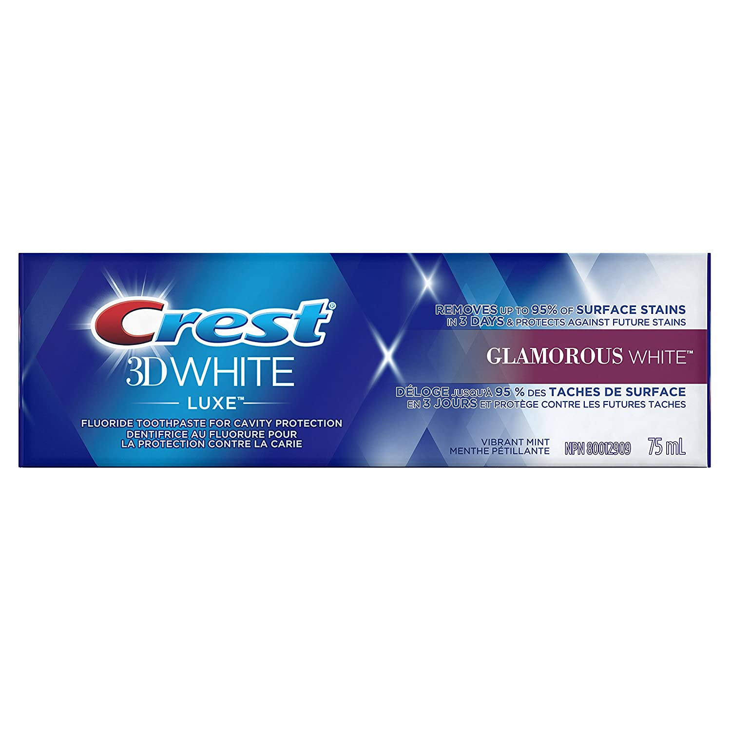Crest 3D White Luxe Glamorous White Whitening Toothpaste - 100 ml Procter and Gamble