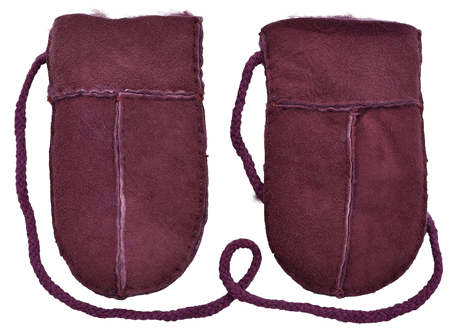 Lambland Genuine Sheepskin Puddy Mittens with 'Keep Safe' Cord