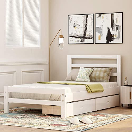 Merax Wood Platform Bed