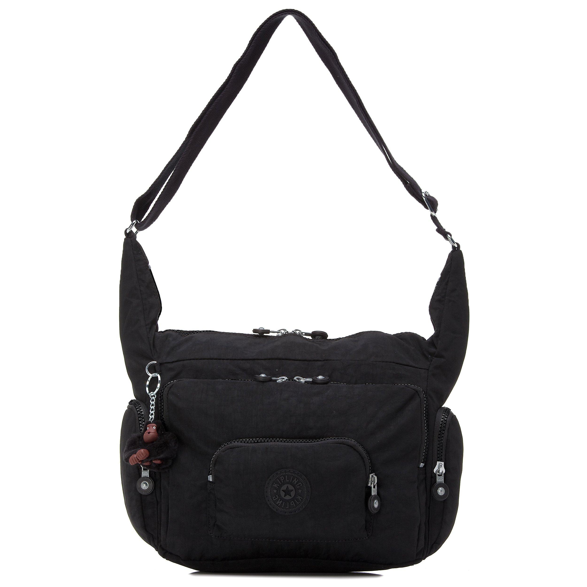 Kipling Erica Black Tonal Crossbody Bag, Black t
