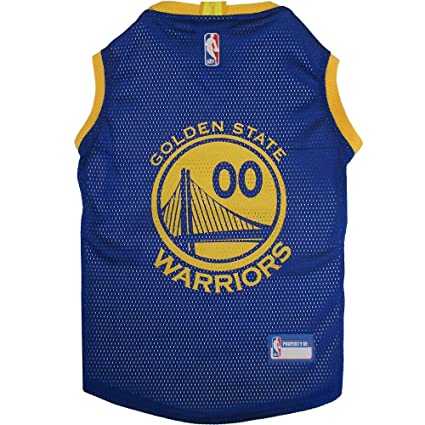 223b7c4fb12 Amazon.com   Pets First Golden State Warriors Dog Basketball Mesh ...