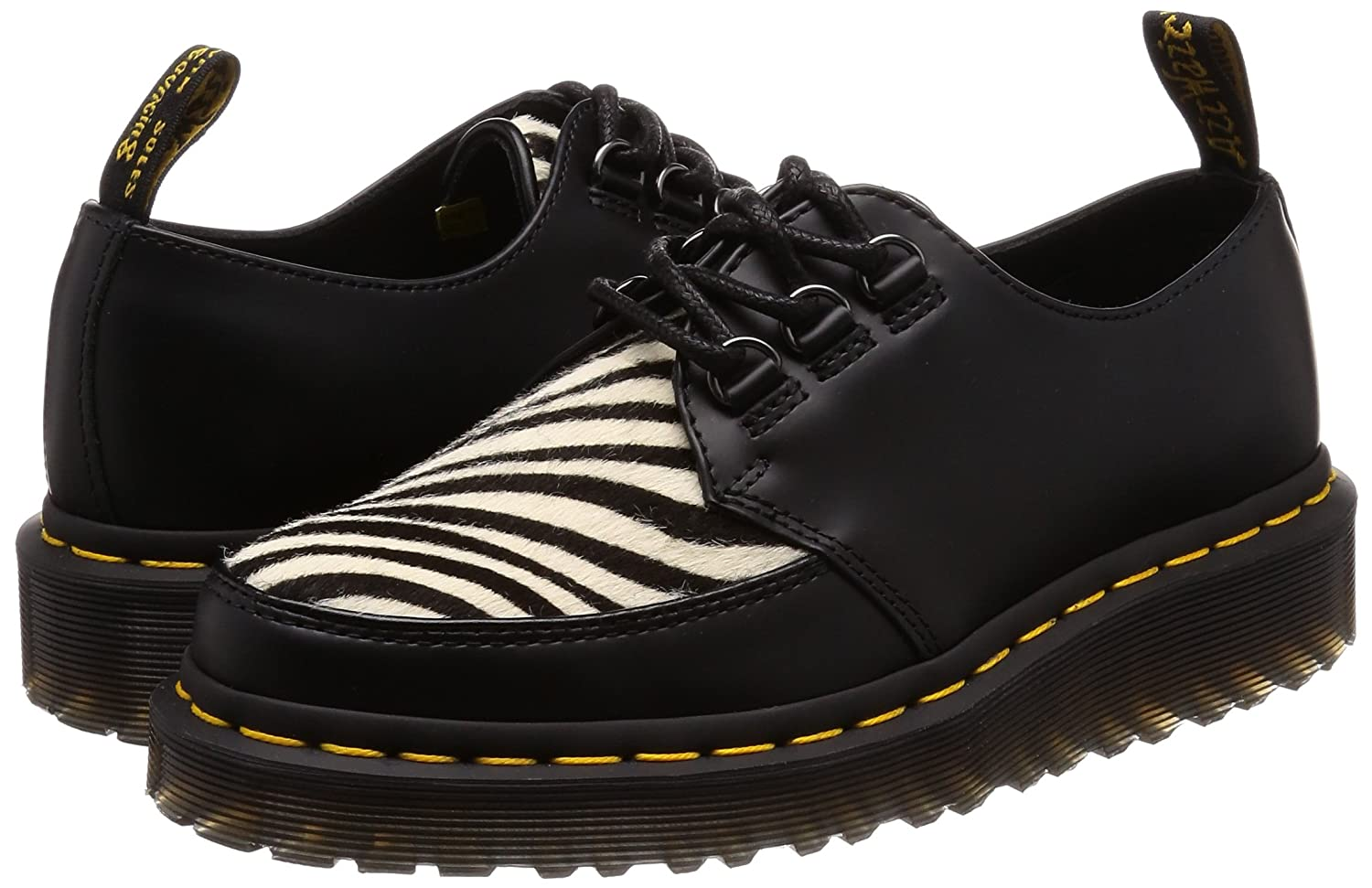 Dr. Martens Unisex Ramsey Zebra B079MP21V7 7 M US Women / 6 M US Men|Black