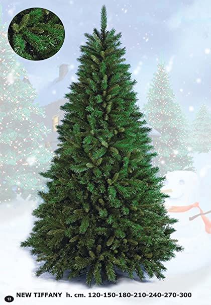 Flora Srl Newtiffany Albero Di Natale Verde 210 Cm Amazon It