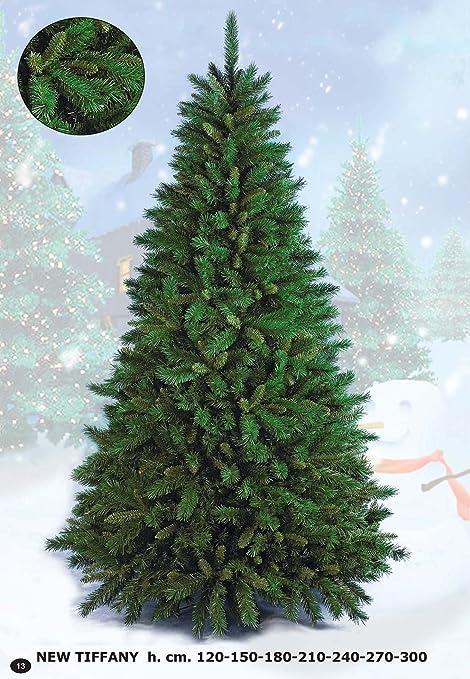 Albero Di Natale 400 Cm.Flora Srl Newtiffany Albero Di Natale Verde 210 Cm Amazon It