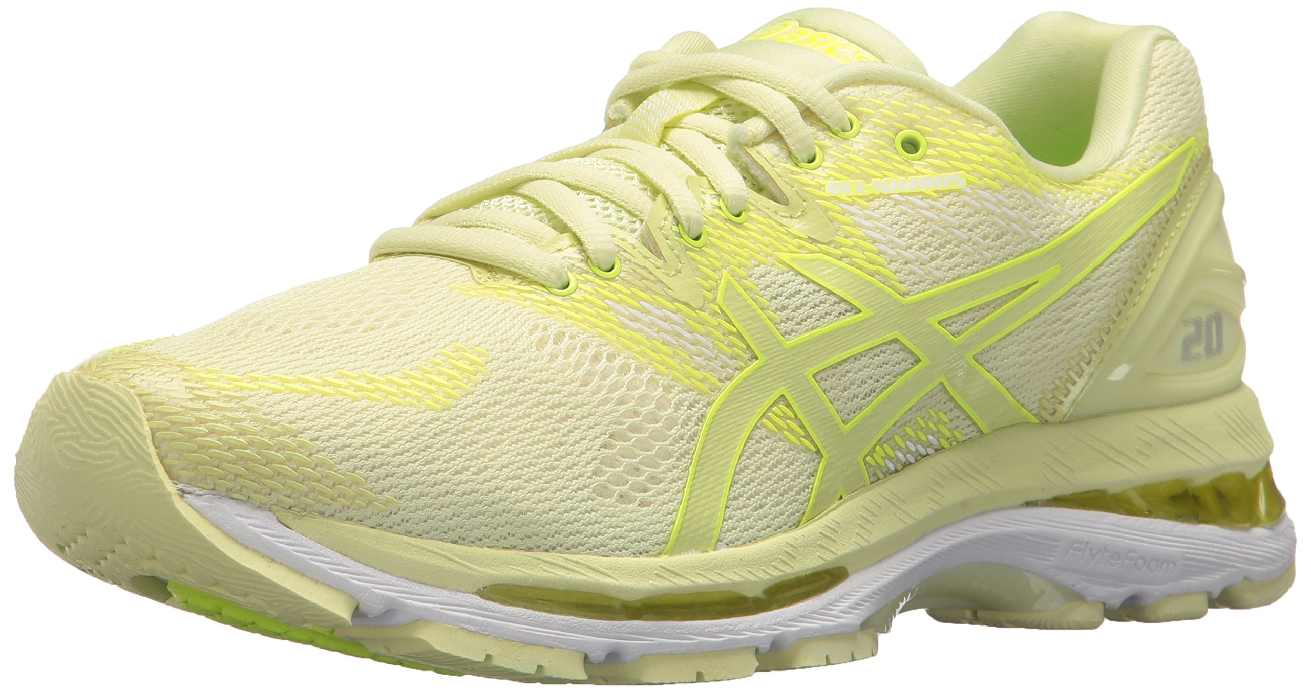 ASICS Women's Gel-Nimbus 20 Running Shoe, limelight/limelight/safety yellow, 5 Medium US