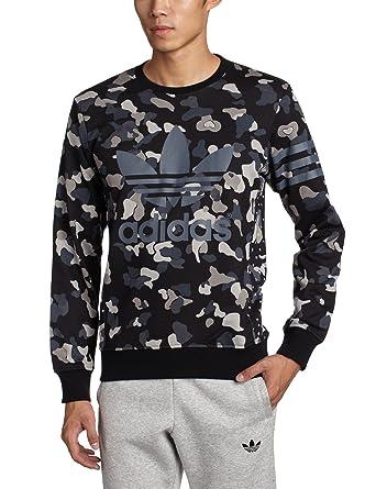 new concept 595e5 1f0cb Adidas Camo Pullover Schwarz Grau: Amazon.de: Bekleidung