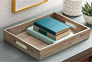 Better Homes & Gardens Tabletop Wooden Tray - Gray Wash