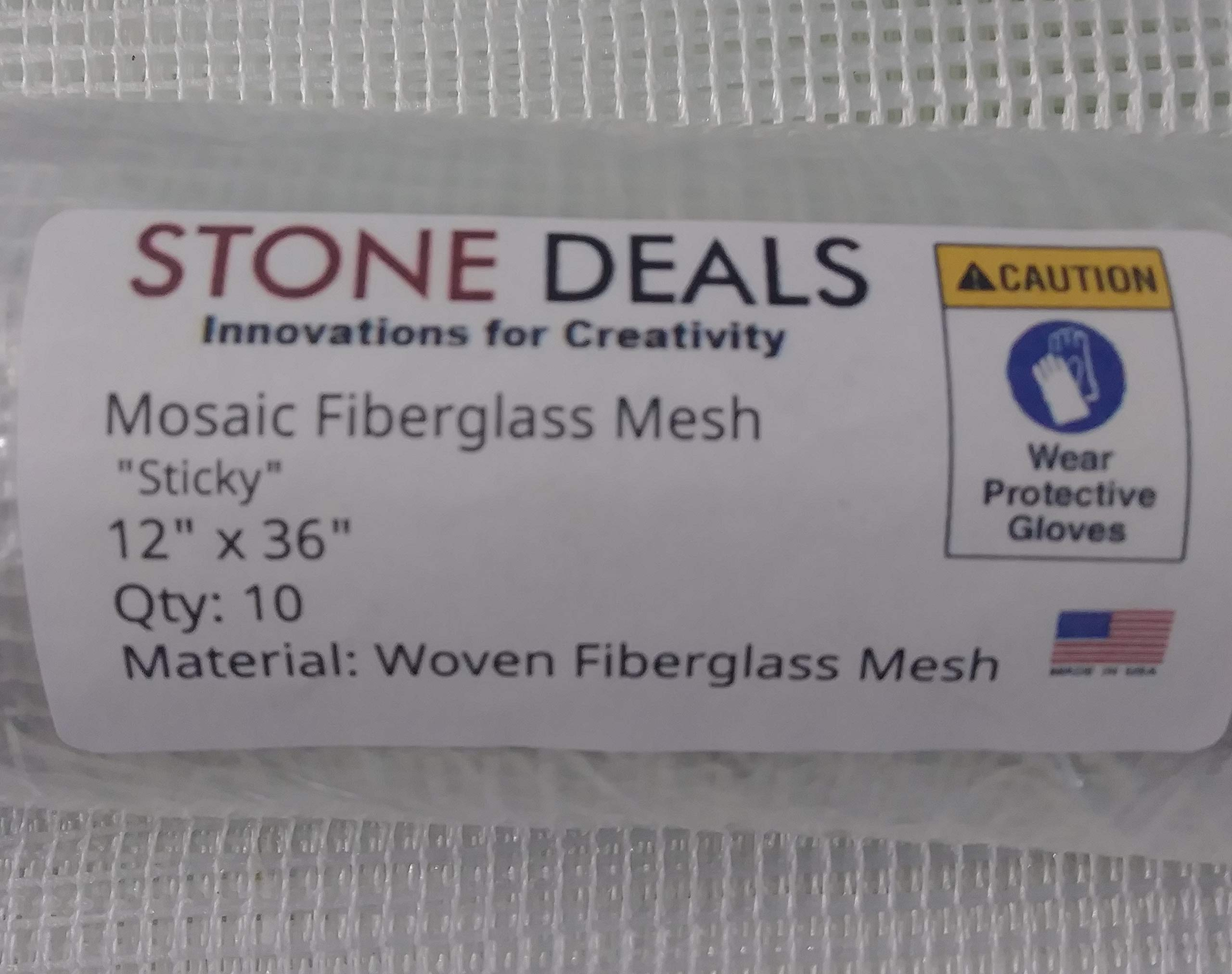 Stone Deals Sticky Mosaic Mesh 12'' x 36'' (Ten Sheets) 4.5 oz