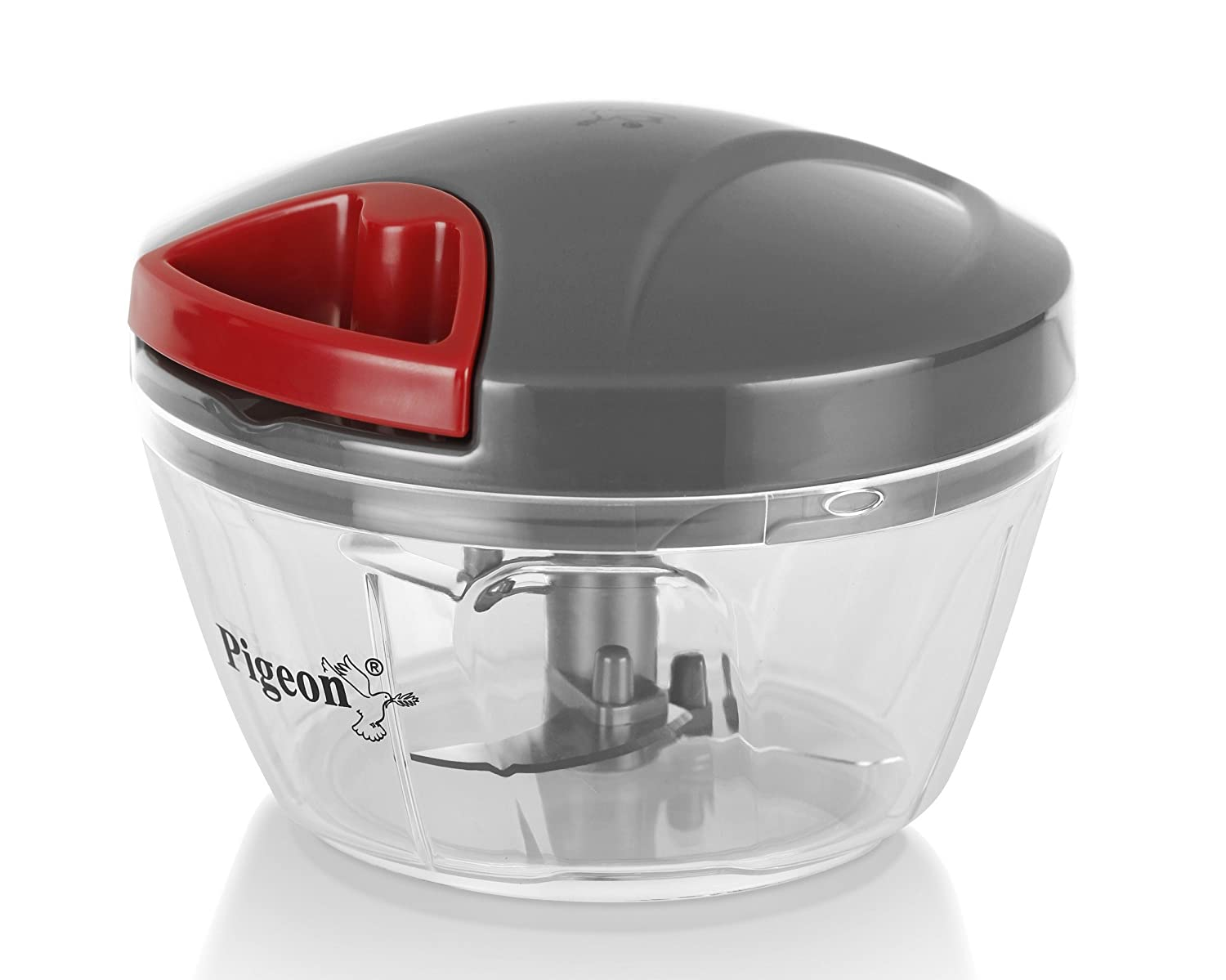Pigeon Handy Mini Plastic Chopper with 3 Blades, Grey