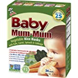 Hot-Kid Baby Mum-Mum Rice Rusks, Vegetable, 24 pieces, (Pack of 6)