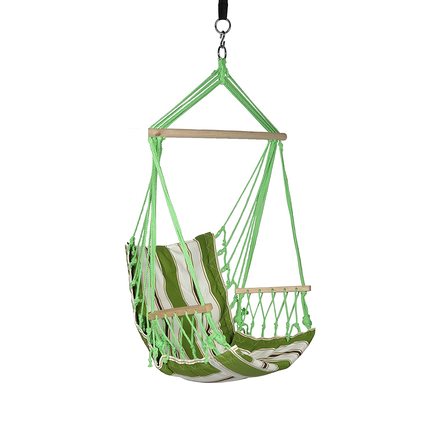 Amazon.com: Blue Sky Outdoor Hanging Chair With Armrests And Free Hammock  Straps: Sports U0026 Outdoors